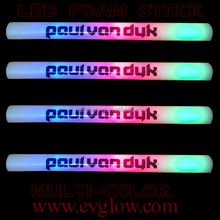 2015TOP sell custom logo LED foam glow stick for <strong>wedding</strong>
