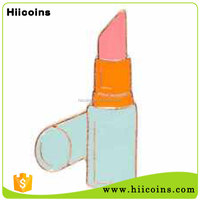 Custom Making Metal Soft Enamel Pink Lipstick Lapel Pin For Sales