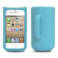 3D Fantastic Creative Cups Silicone Phone Case for Iphone 4S