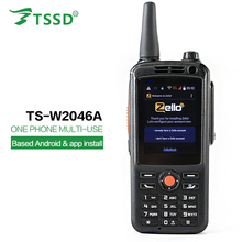 TS-W2046A dual SIM card wifi smart walkie talkie zello ptt Android mobile phone two way radio gsm/2G/3G