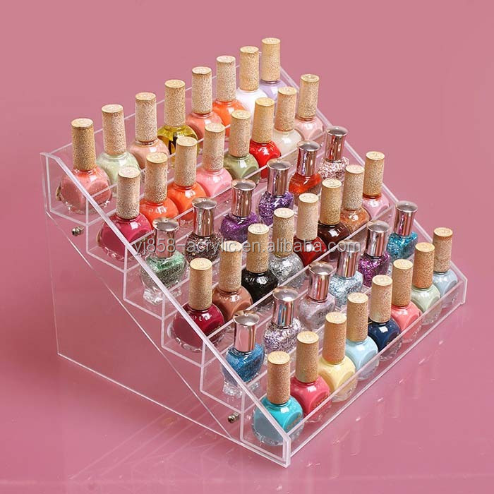 Hot selling new style centerpiece acrylic nail polish display floor stand