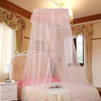 China factory Round shape hanging mosquito net for double bed