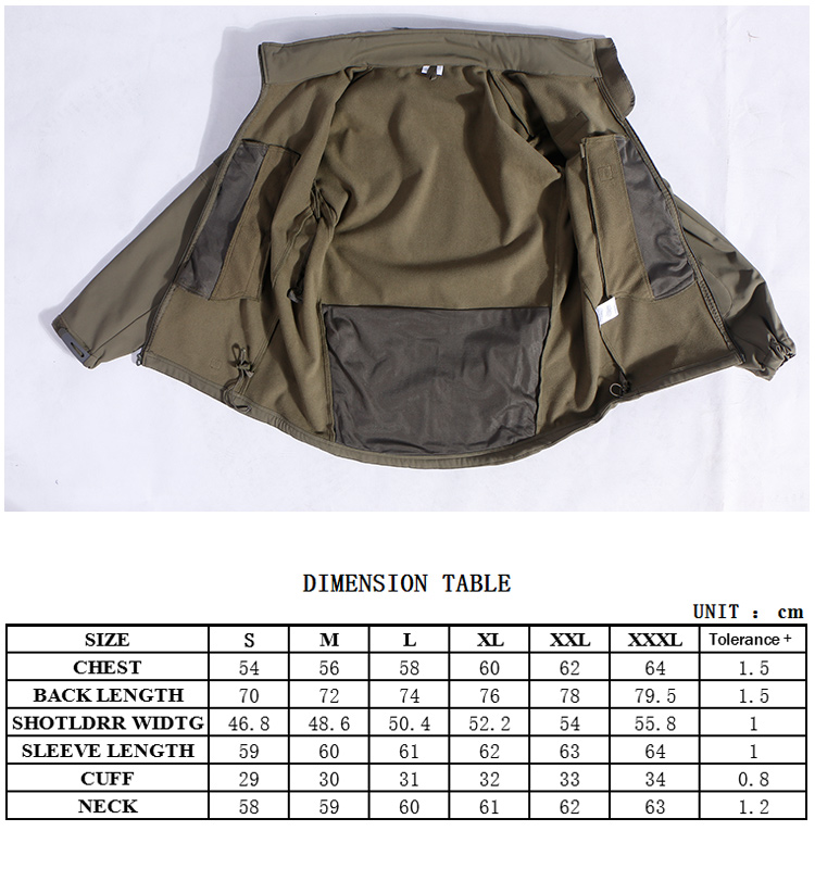 indusrtry supplier windproof hunting army green cotton jackets