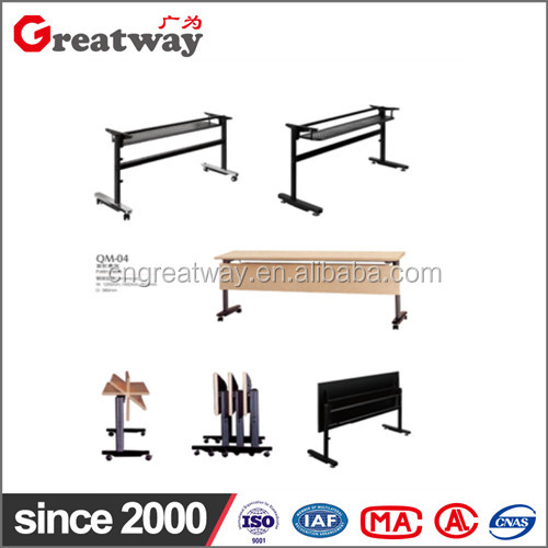 General use Meeting room steel wooden folding portable table