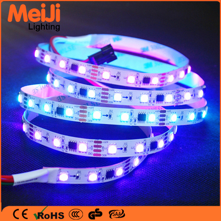 rgb dmx flexible 5050 60leds led strip light under cabinet light