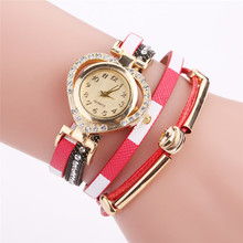 Unique design crystal leather fancy ladies fashion watches trendy HJ2371