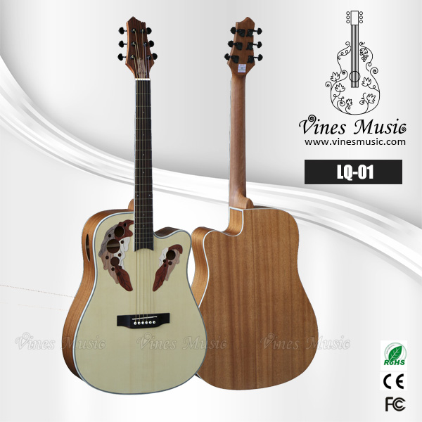unique fashion design grape sound hole unique acoustic guitar