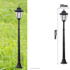 OEM Factory 1 year warranty 1.92m solar post lamp with 19pcs leds lightings