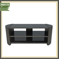 wooden MDF veneer glossy cabinet lcd plasma tv stand RM017B