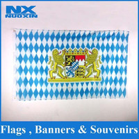 bright screen printed 100% 75D polyester custom flags banners