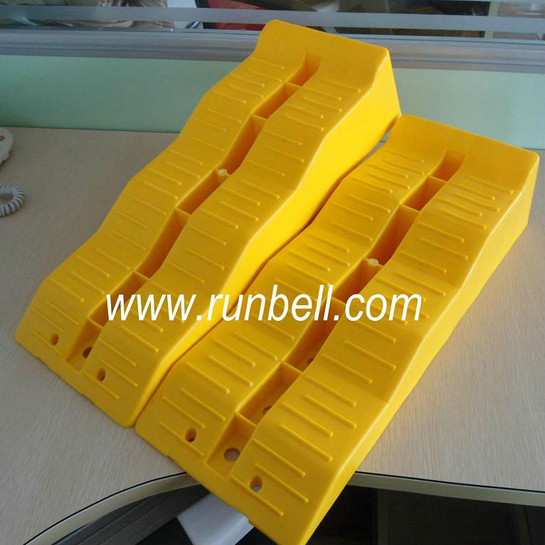 plastic motorhome leveling ramps and wheel chock