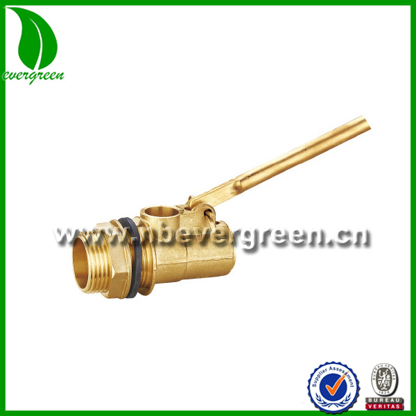 ISO 228/1 Standard 2 inch brass ball float valve with rubber