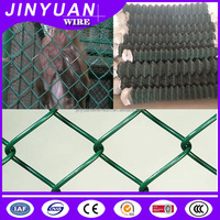High Quality Green PVC Coated Chain Link Fence For Sale (Professional Factory)