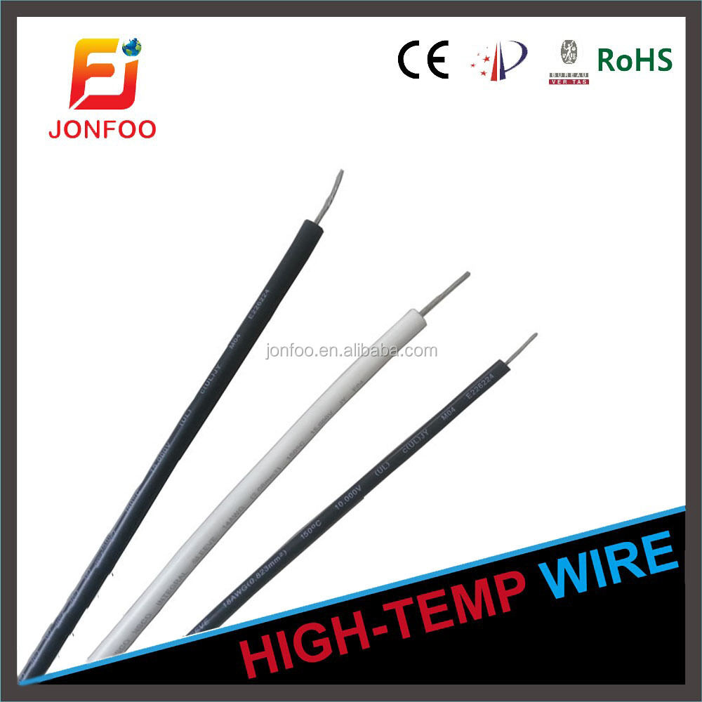 STRANDED TINNED ELECTRIC CABLE LOW VOLTAGE 26-14AWG HEAT RESISTANT UL1330 TEFLON COPPER WIRE FOR MICROWAVE OVEN