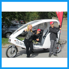 Electric Assisted Three Wheeler Bicycle Taxi Pedicab for Sale