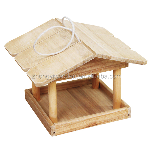 hot selling BSCI outdoor tree hanging wooden pet bird feeder cage for christmas