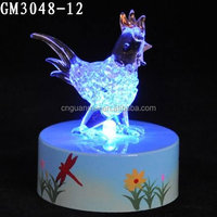Wholesale Chicken Shaped Glass Art Crafts