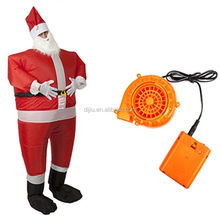 Santa Claus Battery Operated Inflatable Xmas Complete Jumpsuit Hat Beard Gloves