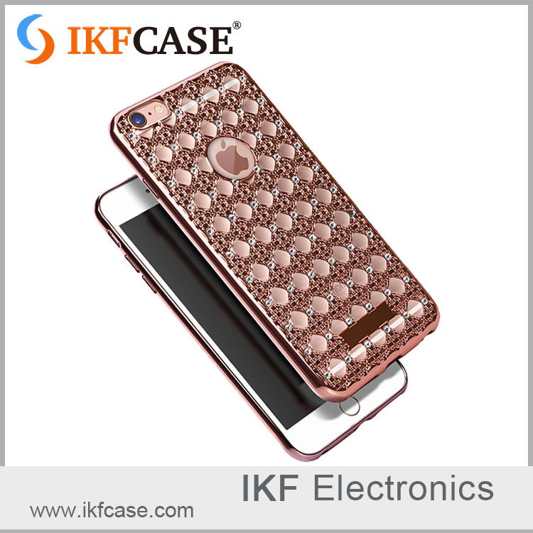 2016 trending products luxury bling diamond electroplating soft TPU phone cases for Iphone 6G 6S 6 Plus 6S Plus