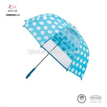 Personalized promotion kids transparent small size POE umbrella