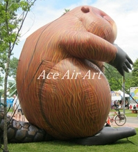 4 metters Tall Giant Inflatable Caster fiber/Inflatable Northern American Animals for Sale and Advertising Made in China