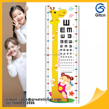 Removable PVC kids home wall sticker/children growth measure chart