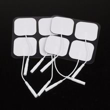 Wholesale 50 pairs(100 pcs) White Replacement Silicon Rubber Electrode Pads For Tens Unit Physiotherapy Ems Electrodes