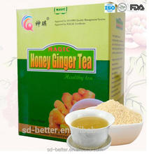 Quick dissolved granulated instant ginger tea, all flavors