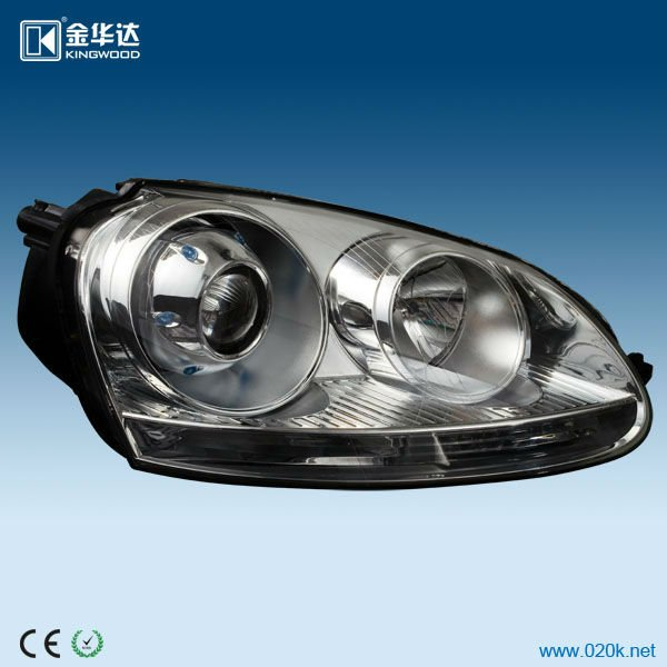 the hotestall-in-one headlight assembly hella 3 glass lens, all in one hid, angel eyes for VW Jetta