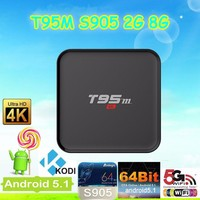 T95M Tv Box Android Smart Tv Box Iptv Box 2G+8G Android 5.1 (S905)Quad-Core Arm A53