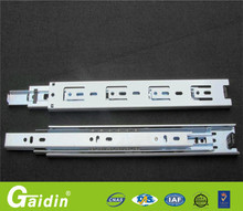 High durability alibaba china supplier 3 fold full extension ball bearing mechanism install cabinet drawer slide rail