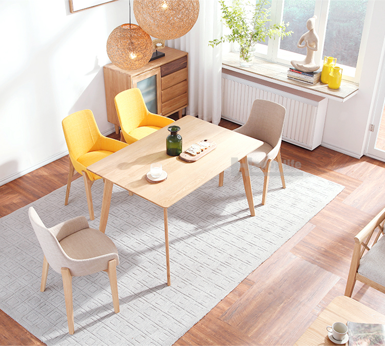 Latest wooden natural home furniture solid wood dining table and chairs