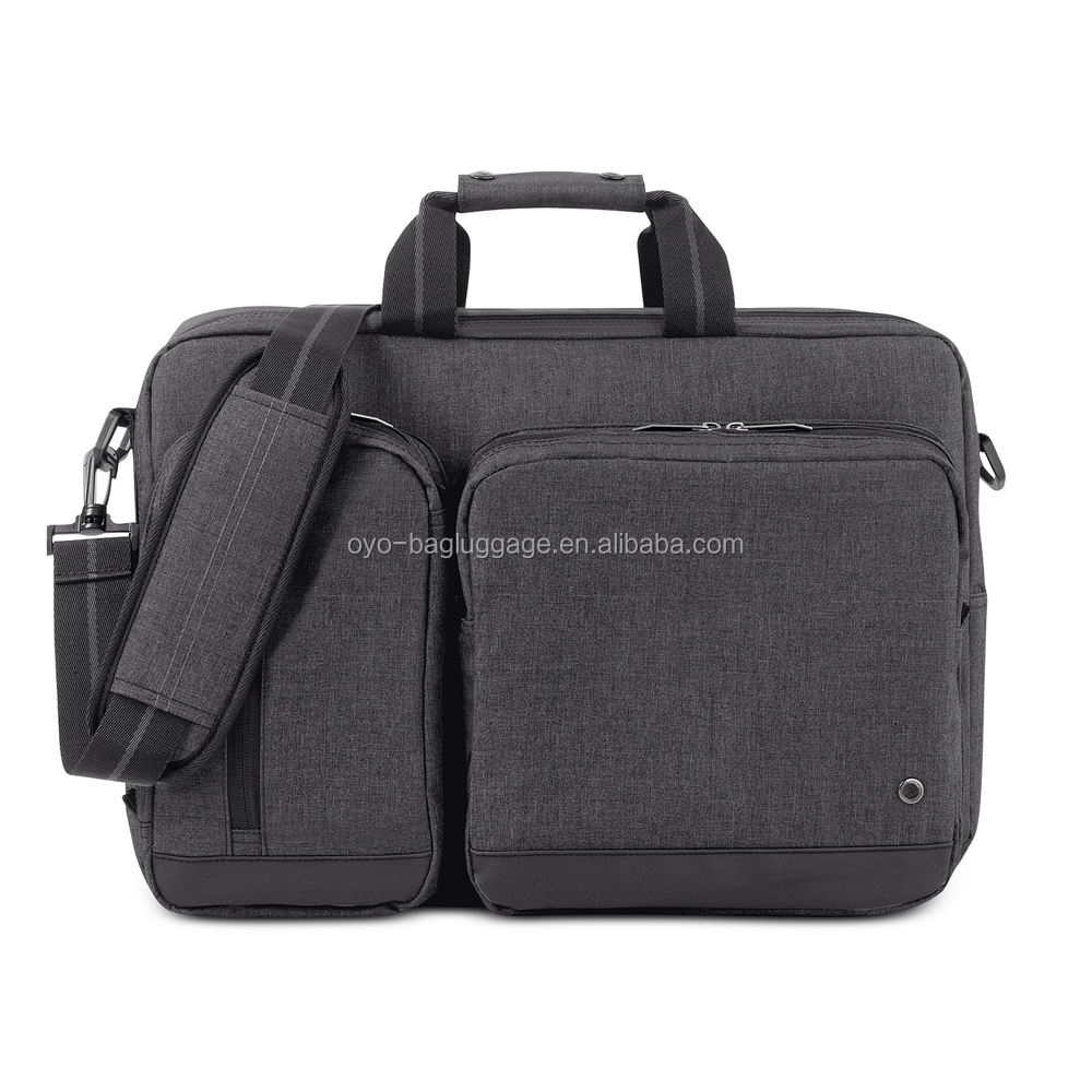 Men nylon swiss laptop bag pu leather 13 laptop bag