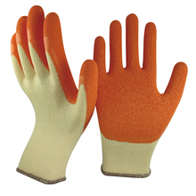 NMSAFETY cheapest 13 gauge polyester liner crinkle latex coated safety construction gloves