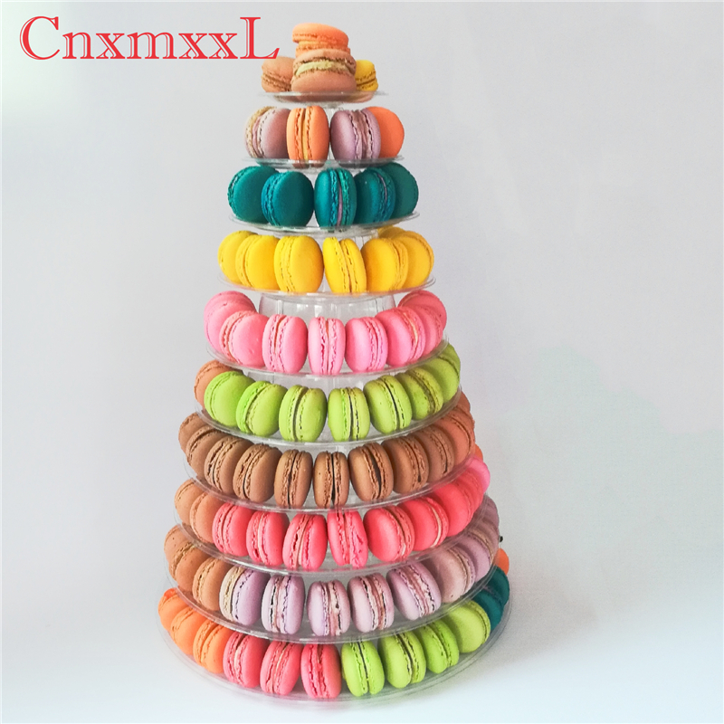 Super WOW 10 tier macaron blister tower stand packaging of CnxmxxL with <strong>acrylic</strong>