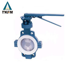 TKFM Chinese supplier wafer ptfe extension stem motorized butterfly water valve with ss410 3""