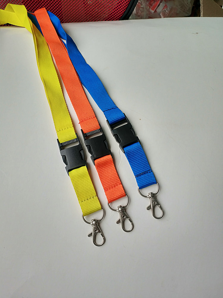 high quality polyester name card holder lanyard without printing