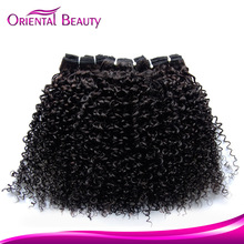 Natural #1B color afro curl hair weaving quick delivery electric curl hair professional certificate bouncy curl hair