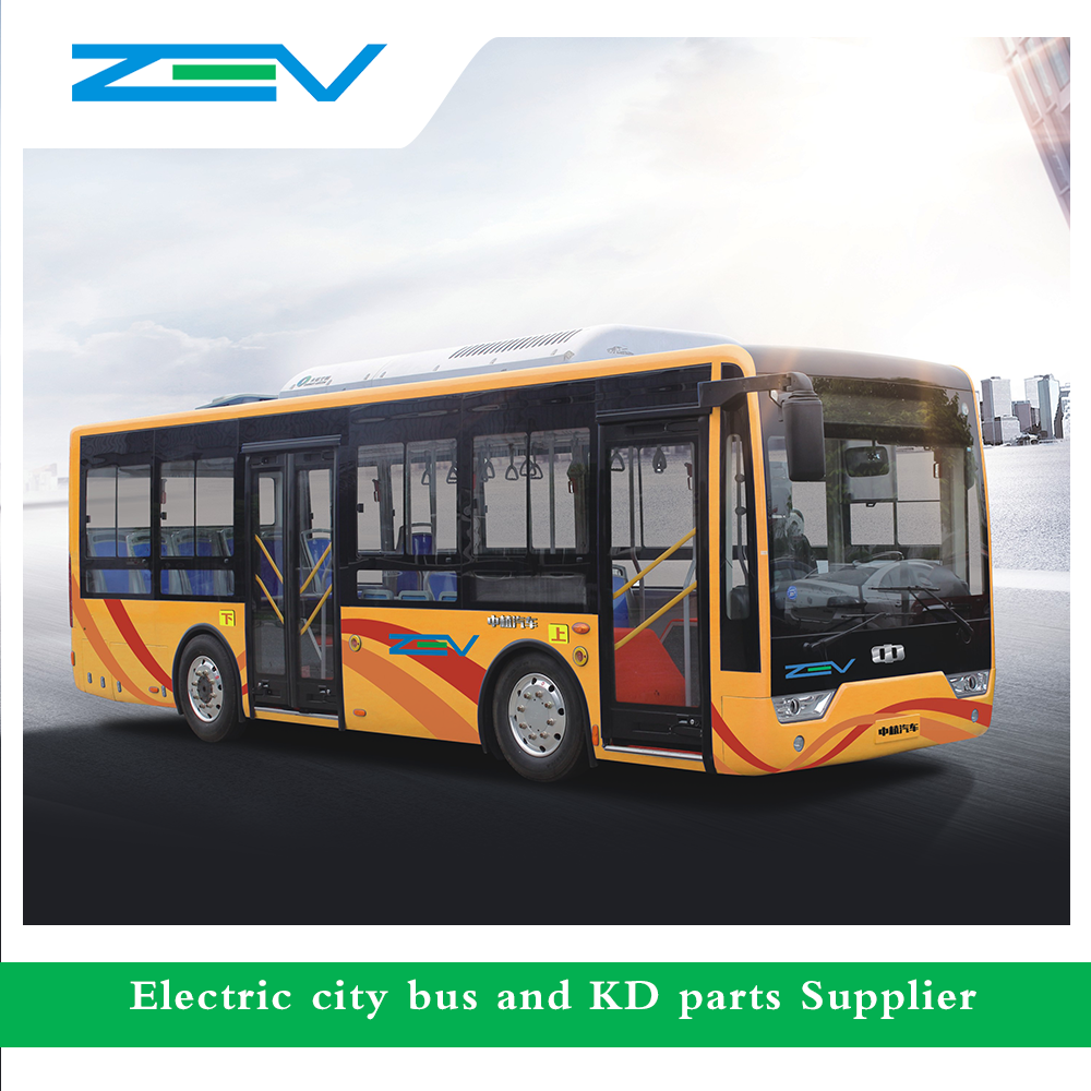 ZEV 8 meters electric city bus luxury bus good price bus for sale