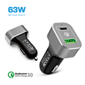 2 USB Quick Charge Car Charger with USB C & Power Delivery for Pixel/XL New MacBook/MacBook Pro