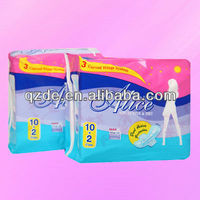 lady Anion Cotton Cheap Sanitary Napkin with Wings, Lady Napkin, Sanitary Pad (JHC003)