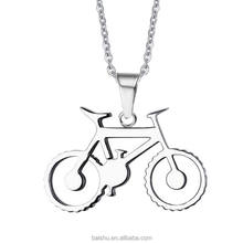 Sports Bicycle Pendant Necklace Stainless Steel Chain Men's Ghost Rider Rock Punk Necklaces Pendants Sports necklaces