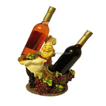 Fantastic chef resin customized double table wine bucket holder