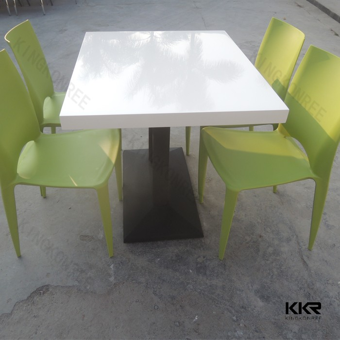 Coffee house tables and chairs, acrylic solid surface table tops