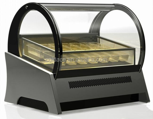 Mini /Counter ice cream/Gelato display freezer