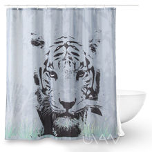 Waterproof Polyester High Quality 3D Digital Print Shower curtain