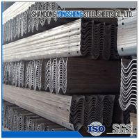Good aashto m180 galvanized highway guardrail