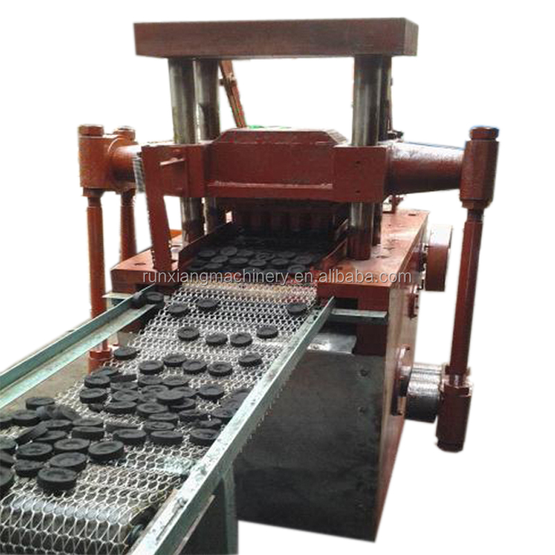 Homemade small shisha charcoal briquette maker making machine