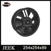 Ac 380v 25cm 254x254x89mm round powerless ventilation fan ac 110v 25cm round axial flow fans