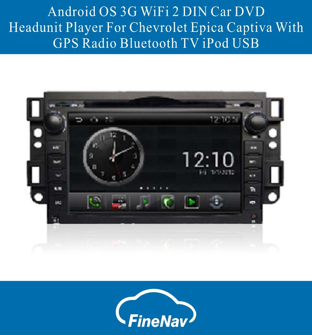 Android OS S150 3G WiFi 2 DIN Car DVD Headunit Player For Chevrolet Epica Captiva With GPS Radio Bluetooth TV iPod USB